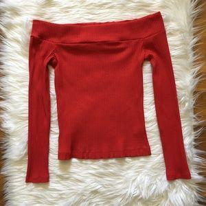 [Aritzia] Wilfred Fremon Off Shoulder Ribbed Shirt